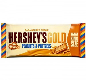 Baton Hershey's Gold With Peanuts And Pretzels King Size  70G