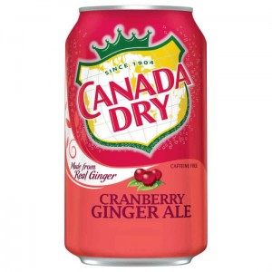 Canada Dry Cranberry Ginger Ale 355g