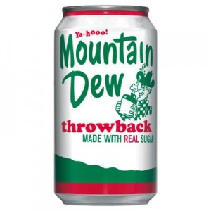 Mountain Dew Throwback Real Sugar 355ml