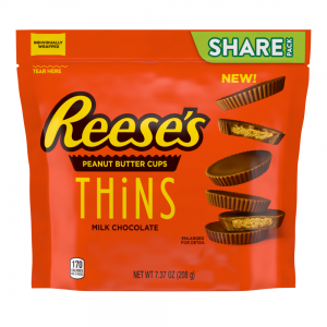 Reese's Thins, Peanut Butter Milk Chocolate 208g