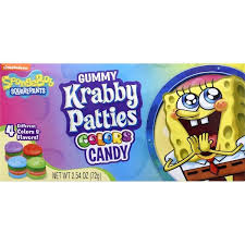 SpongeBob Gummy Krabby Patties Colors Candy 72g