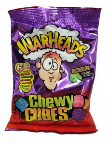 Warheads Sour Chewy Cubes   141g