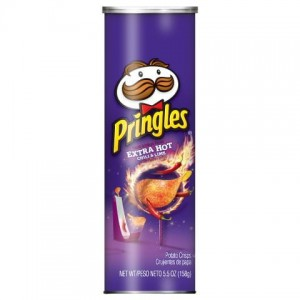 Chipsy Pringles Extra Hot Chilli Lime 158g