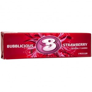 Bubblicious Guma o Smaku Strawberry  48g