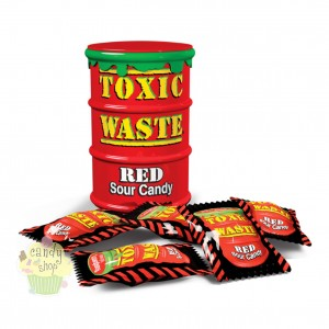 Toxic Waste Sour Candy Red  48g