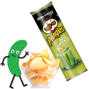 Chipsy Screamin' Dill Pickle Pringles Xtra 158g