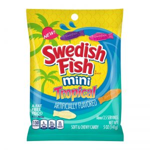 Swedish Fish Mini Tropical  141g