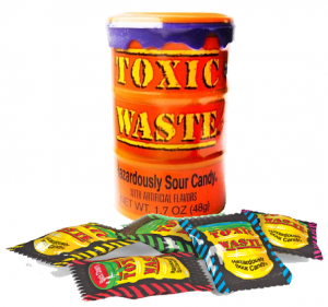 Toxic Waste Sour Candy 48g  Orange