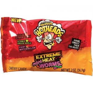 Warheads Hotheads Extreme Mini Heat Worms  56,7g
